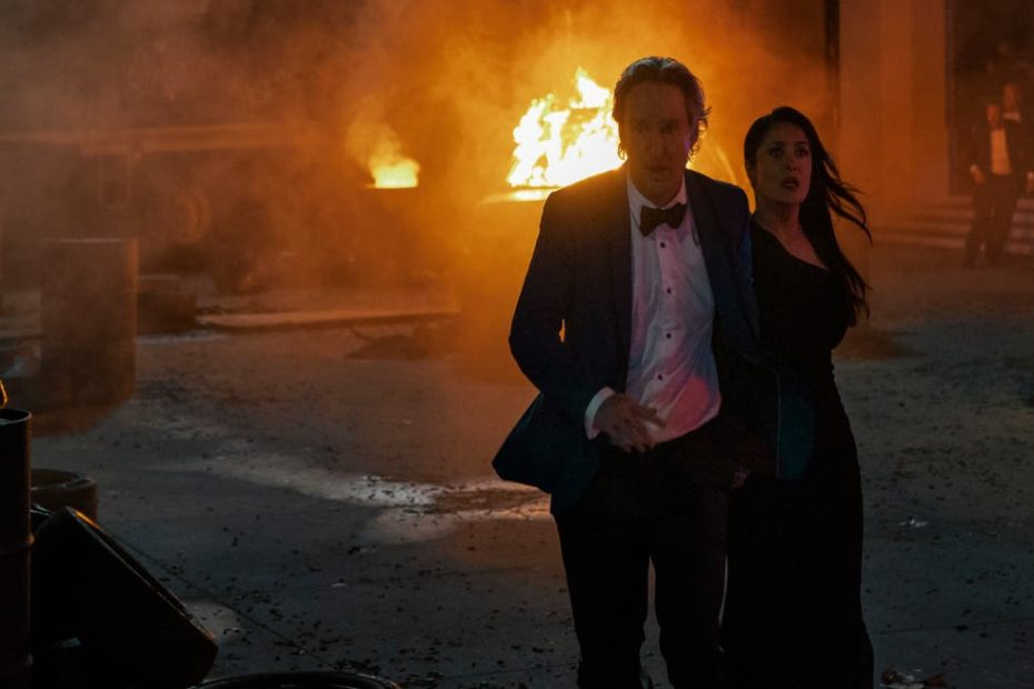 <p>There's a fleeting pleasure in Greg (Owen Wilson) and Isabel's (Salma Hayek) days of anarchy</p>