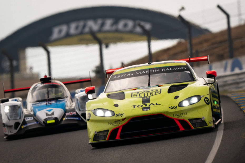 No. 97 Aston Martin Vantage GTE race car at the 2020 24 Hours of Le Mans