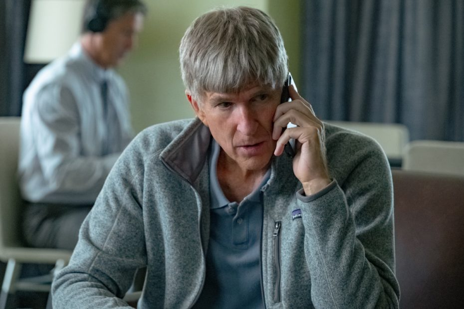 <p>Matthew Modine plays Rick Singer in the re-enactment sections</p>