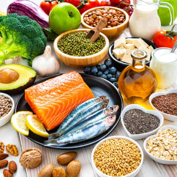 Oily fish, pulses, nuts and vegetables
