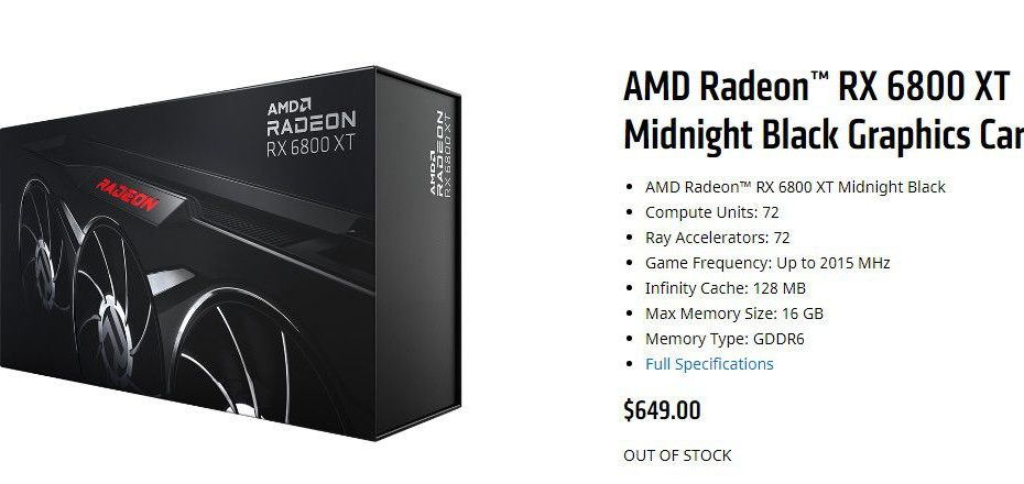 AMD inexplicably threw scalpers a bone with limited-edition 'Midnight Black' GPU