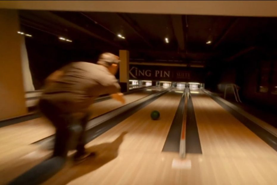 One-shot drone video goes behind the scenes as bowling alley prepares to re-open