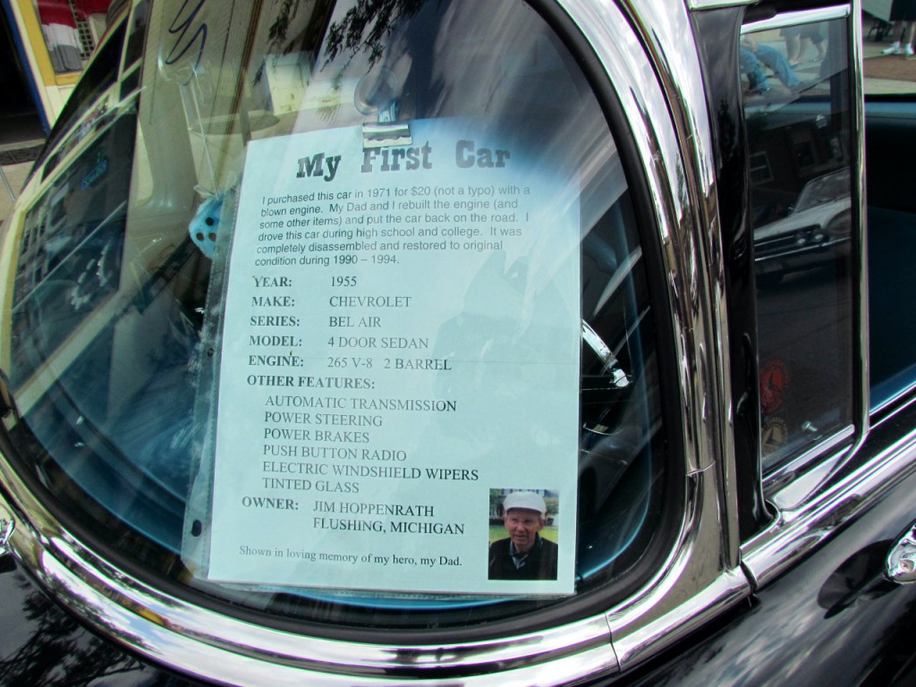 An information sheet can help others appreciate your car and what you've put into it