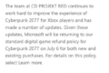 Microsoft's expanded refund plan for Cyberpunk 2077 on Xbox ends in July