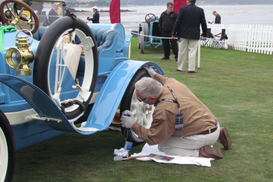 Hey, it's a local show, so you don't need to Q-tip every details and remove every blade of grass from the tire treads as you do to please the judges at Pebble Beach